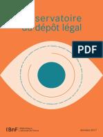 Observatoire dépôt légal BnF 2017