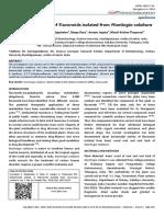 Bactericidal activity of Flavonoids isolated from Muntingia calabura