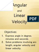 Angular Velocity With Expressing Degree