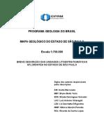 MAPA GEOLÓGICO DO ESTADO DE SÃO PAULO