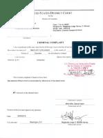 Doostdar Signed Criminal Complaint Affidavit