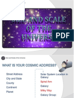 size and scale of the universe