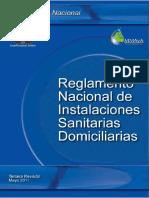Reglamento Nacional de Instalaciones Sanitarias Domiciliarias._mayo 2011