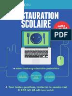 """Le dépliant « Restauration scolaire"""" / dates à ne pas manquer de la ville de Strasbourg"""