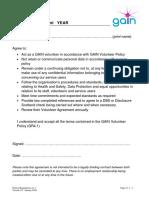 GR4.1.1 Volunteer Agreement 2018