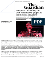 AI experts call for boycott over 'killer robots' project at South Korea university | Technology | The Guardian