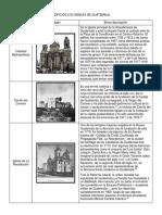 Edificios Coloniales de Guatemala