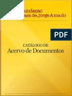 acervo de documentos de Jorge Amado