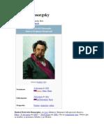 Biografía de Mussorgsky