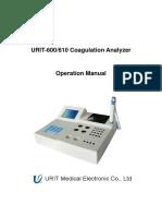 URIT-610 User Manual-Coagulation Analyzer