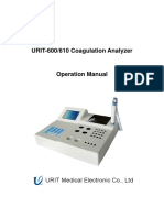 URIT-610 User Manual-Coagulation Analyzer