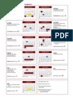 Chelmsford 2018-19 school calendar