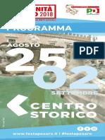 Festa Unità Pesaro 2018 #energialocale per ripartire