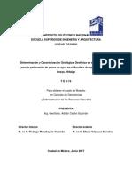 Determinación y Caracterización Geológica, Geofísica de Sitios Favorables Para La Perforación de Pozos de Agua en El Acuífero Actopan - Santiago de Anaya, Hidalgo.