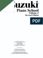 Suzuki Piano School - Vol 02 Editado
