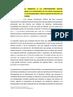VULNERACIÓN DEL DERECHO a LA PARTICIPACIÓN SOCIAL