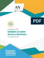 Organizacion Sin Animo de Lucro y Donaciones