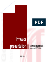 Investor Presentation Julio 2018 Generalitat