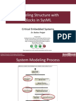 Modeling structures with sysml