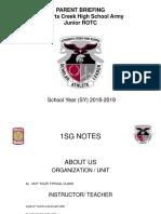 1sg red hawk battalion parent brief