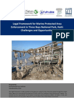 Legal Framework for Marine Protected Area Enforcement in Three Bays National Park, Haiti