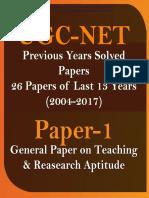 Ugc Net Paper i 13 Years 6000mcq Combo