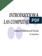 Introduccion a la computadora