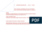 Sistemas Psicologicos 1 - Professora Cristiane Lima - 22-2-18 - 1º Aula