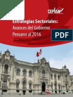 Estrategias Sectoriales Avances Del Gobierno Peruano Al 2016