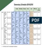 hubble elementary schedule 2018-2019