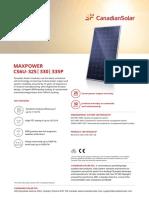 Canadian Solar-Datasheet-MaxPower CS6U-P v5.562 En