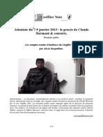 Armes Du 7 9 Janvier 2015 Le Proc s de CLAUDE HERMANT Et Consorts Par GREFFIER NOIR P1