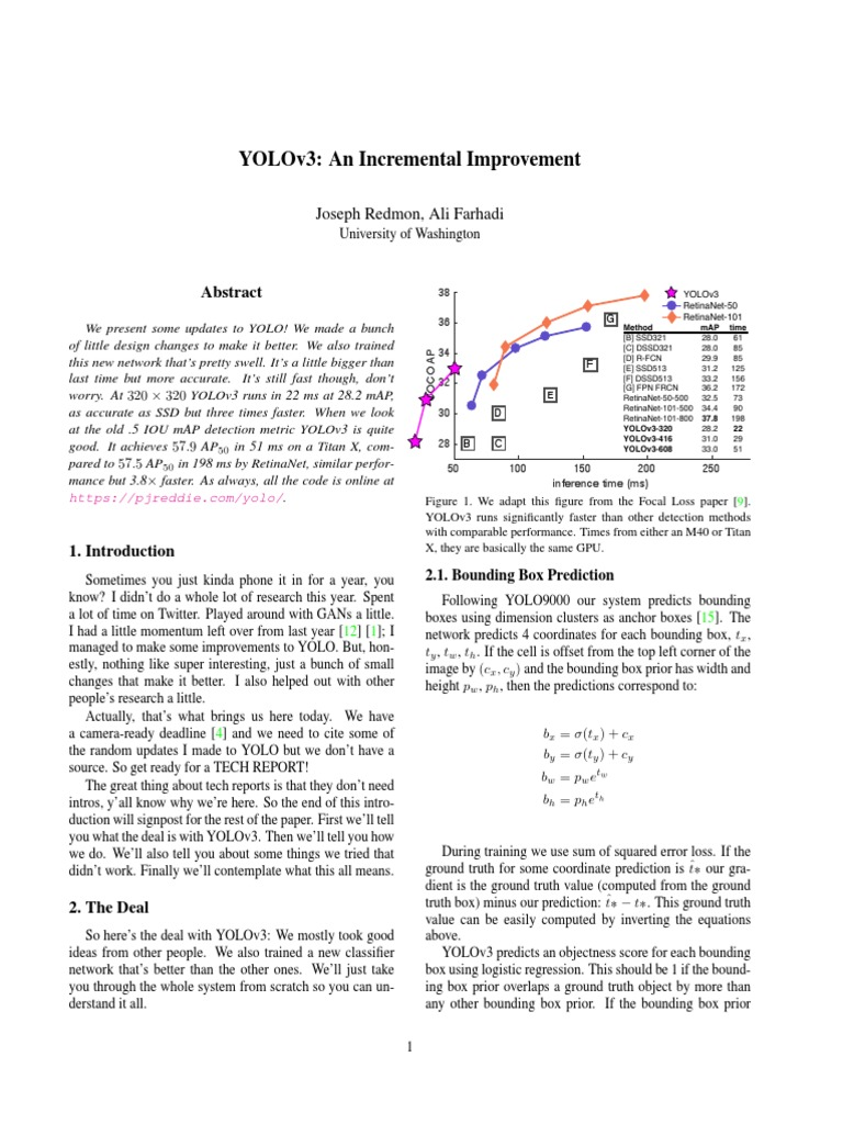 YOLOv3 | Accuracy And Precision | Statistical Classification