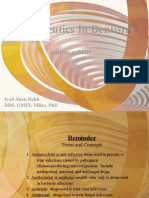 Therapeutics in Dentistry (Antimicrobials)