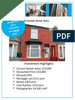 5 Camden Street Hull Investment Brochure