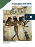 Arte Egipcio - Músicas y Bailarina de La Tumba de Nakht (Imperio Nuevo)