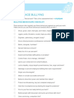 Bullying Behaviours Checklist
