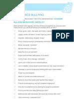 Bullying Behaviours Checklist