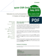 Lundquist CSR Online Awards Italy 2010 Executive Summary