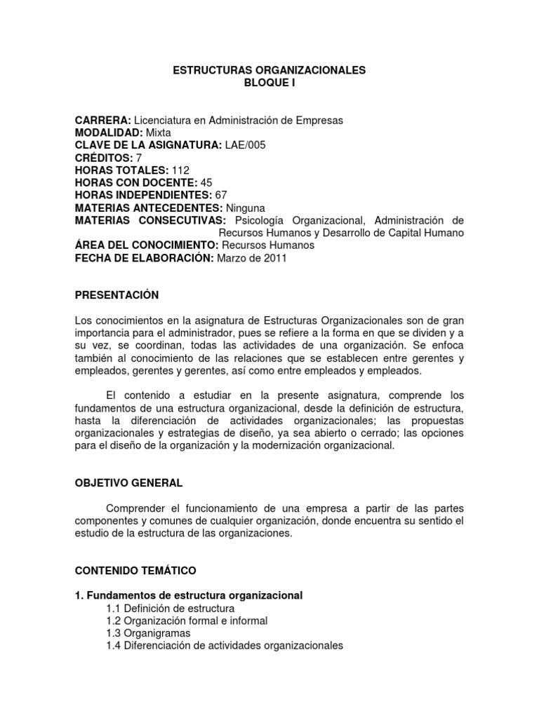 Estructuras Organizacionales Docx