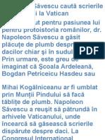 Scrieri Despre Daci La Vatican