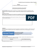 Scientific Research Introduction Outline Template