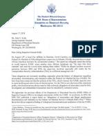 Congressmen Letter Re