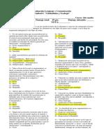 Evaluación Lenguaje y Comunicación 1ero medio