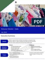 Kids Wear Market in India 2010 Sample 100713073335 Phpapp02