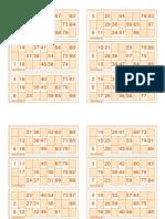 Bingo charts