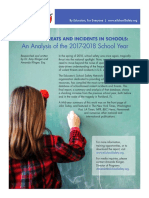 VIOLENT THREATS AND INCIDENTS IN SCHOOLS