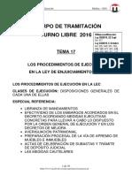 TEMA 17 PROCEDIMIENTOS EJECUCION 2016 6-Oct T-Libre.pdf