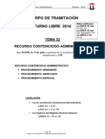 TEMA 22 RECURSO CONTENCIOSO-ADMINISTRATIVO 2016 6-Oct T-Libre NUEVO.pdf
