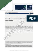 Hilton Blackstone Case Study